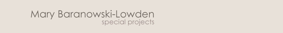 Mary Baranowski-Lowden: Special projects